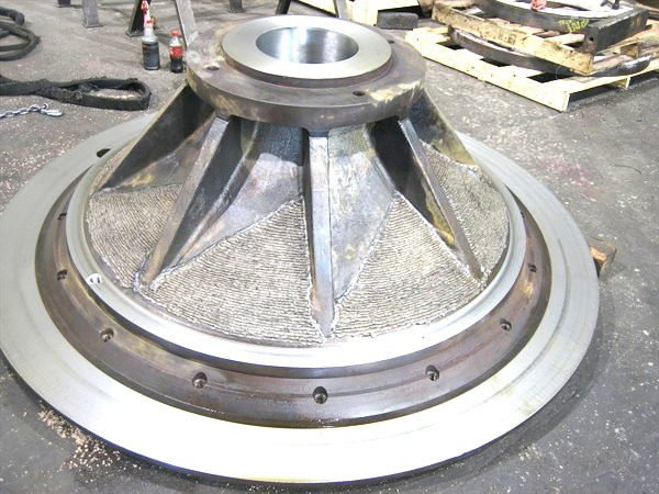 Fabricate impeller blades of a steel