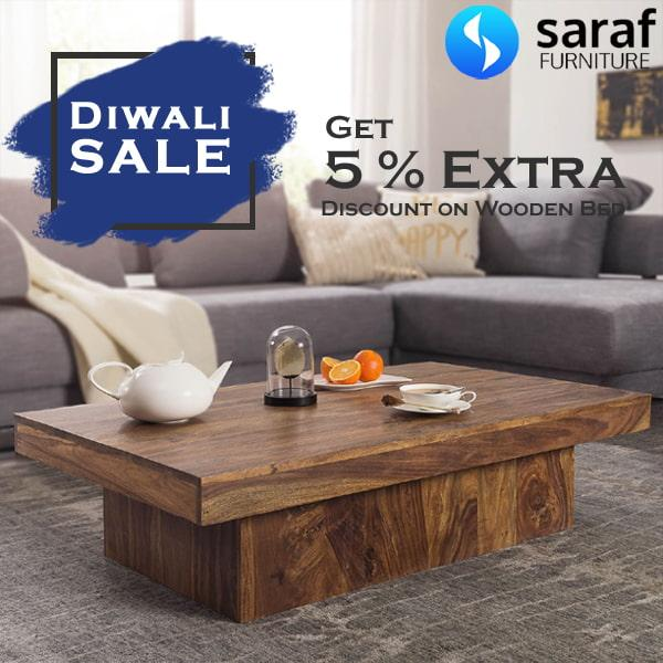 Diwali Offer * Extra 10% OFF* on Solid Wood Furniture.
